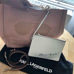 NWOT. Karl Lagerfeld reversible tote